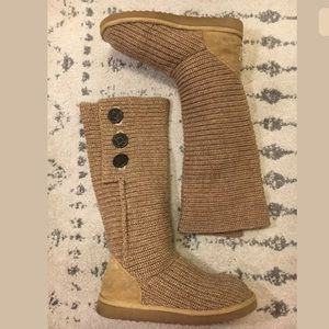 UGG Shoes - UGG cardy triple button knit sweater boots 8